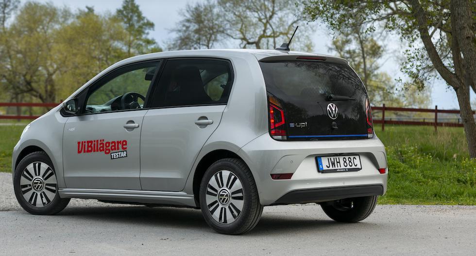 Volkswagen e-Up är en av de billigaste elbilarna att äga.