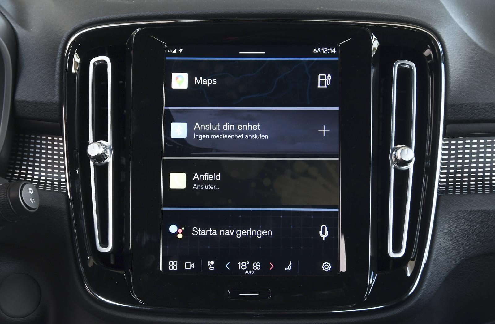 Övergången från Volvo Sensus till Android har grafiskt passerat nästan obemärkt.