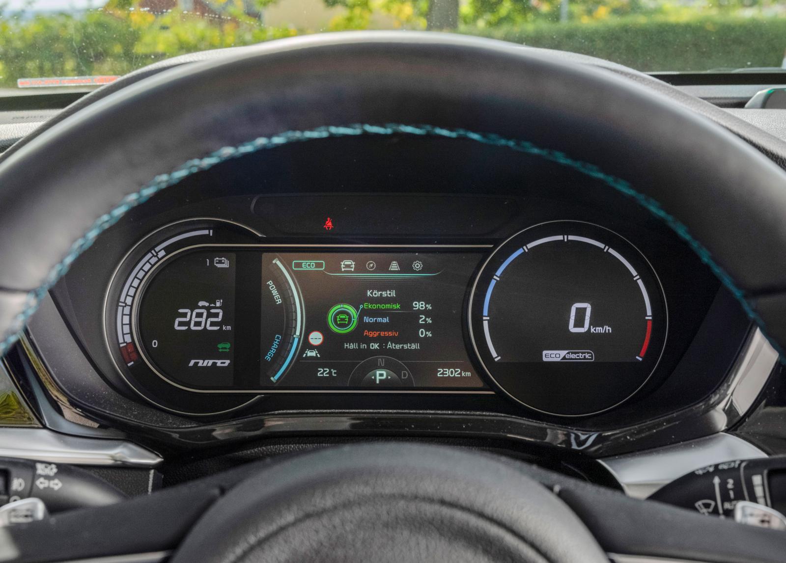 """Kias instrument omfattar samma information som Hyundais men utförandet är lite """"äldre."""""""
