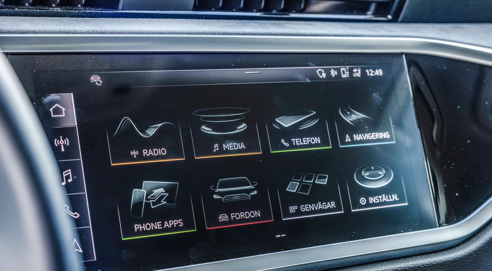 En för Audiföraren bekant syn, samtliga versioner av A, RS, S och Q-modeller använder nu samma gränssnitt. Responsiv skärm med tydliga ikoner.