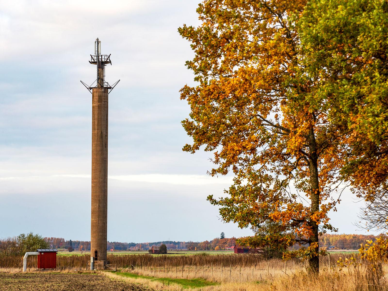 En utrotningshotad art men stolpen vid Arbogaån lever vidare som mobilmast.
