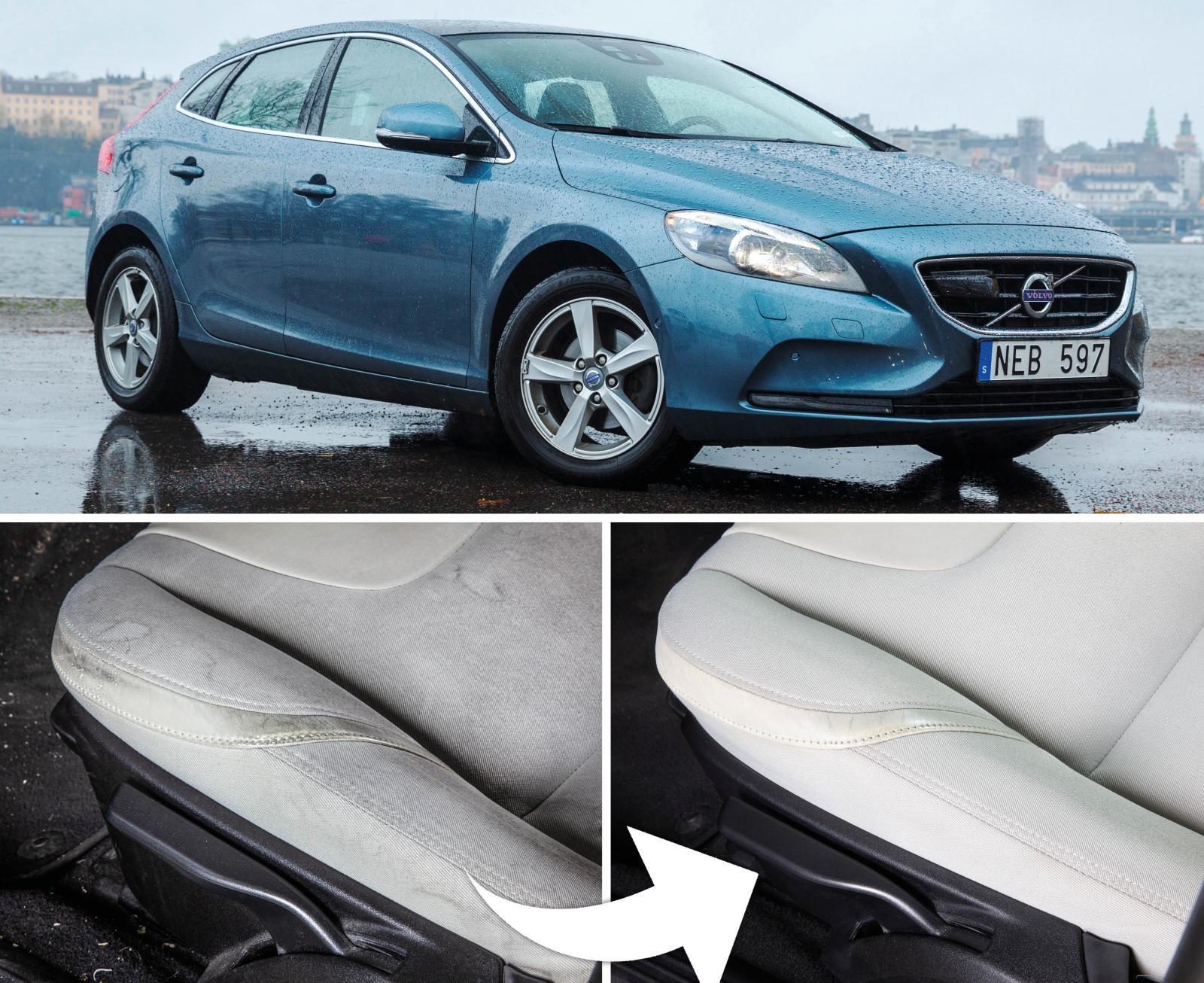 Bilhandlaren kan få 9 100 kronor mer betalt för bilen genom att skruva tillbaka en Volvo V40 från 10 000 till 6 000 mil. En enkel interiörtvätt kan vara allt som behövs.