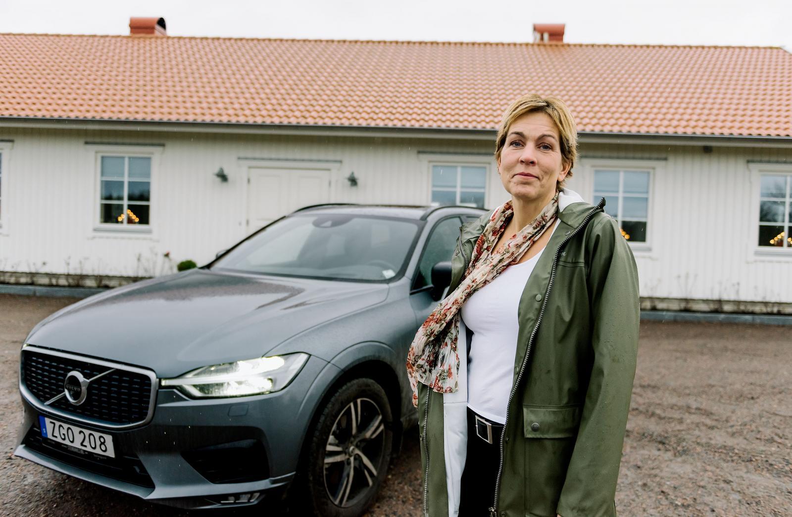 I dag är Tiguanen utbytt mot en Volvo XC60.