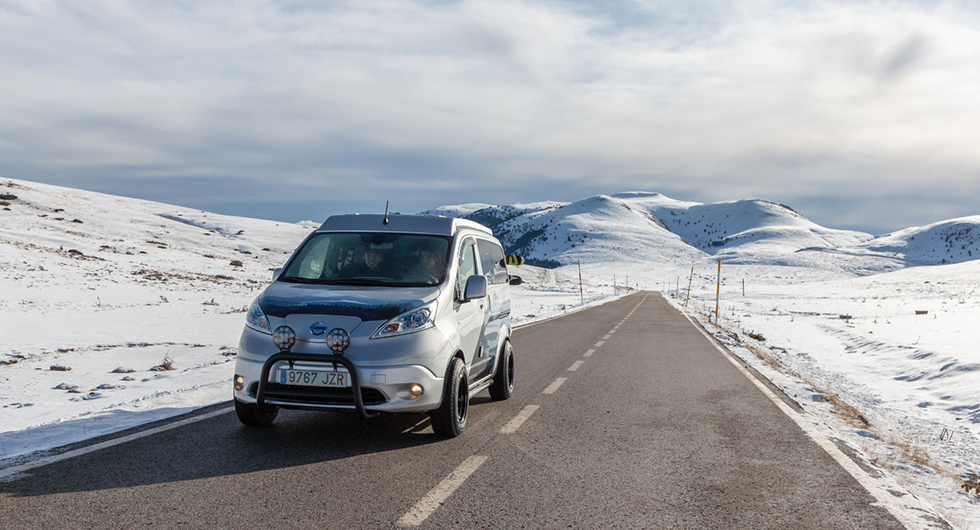 Nissan e-NV200 Winter Camper ett eldrivet hem för vinterexpeditioner
