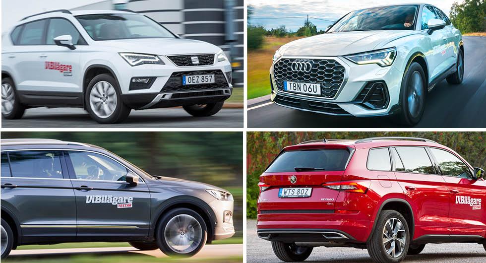 Seat Ateca och Tarraco samt Audi Q3 och Skoda Kodiaq är några av modellerna om omfattas av återkallelsen.