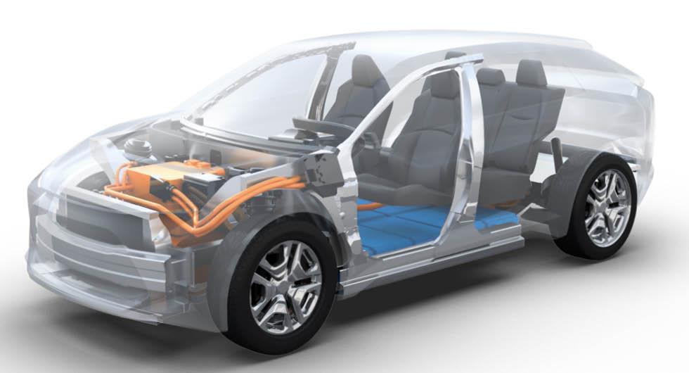 Mer än så här vill Toyota än så länge inte visa av den kommande elbilsmodellen.