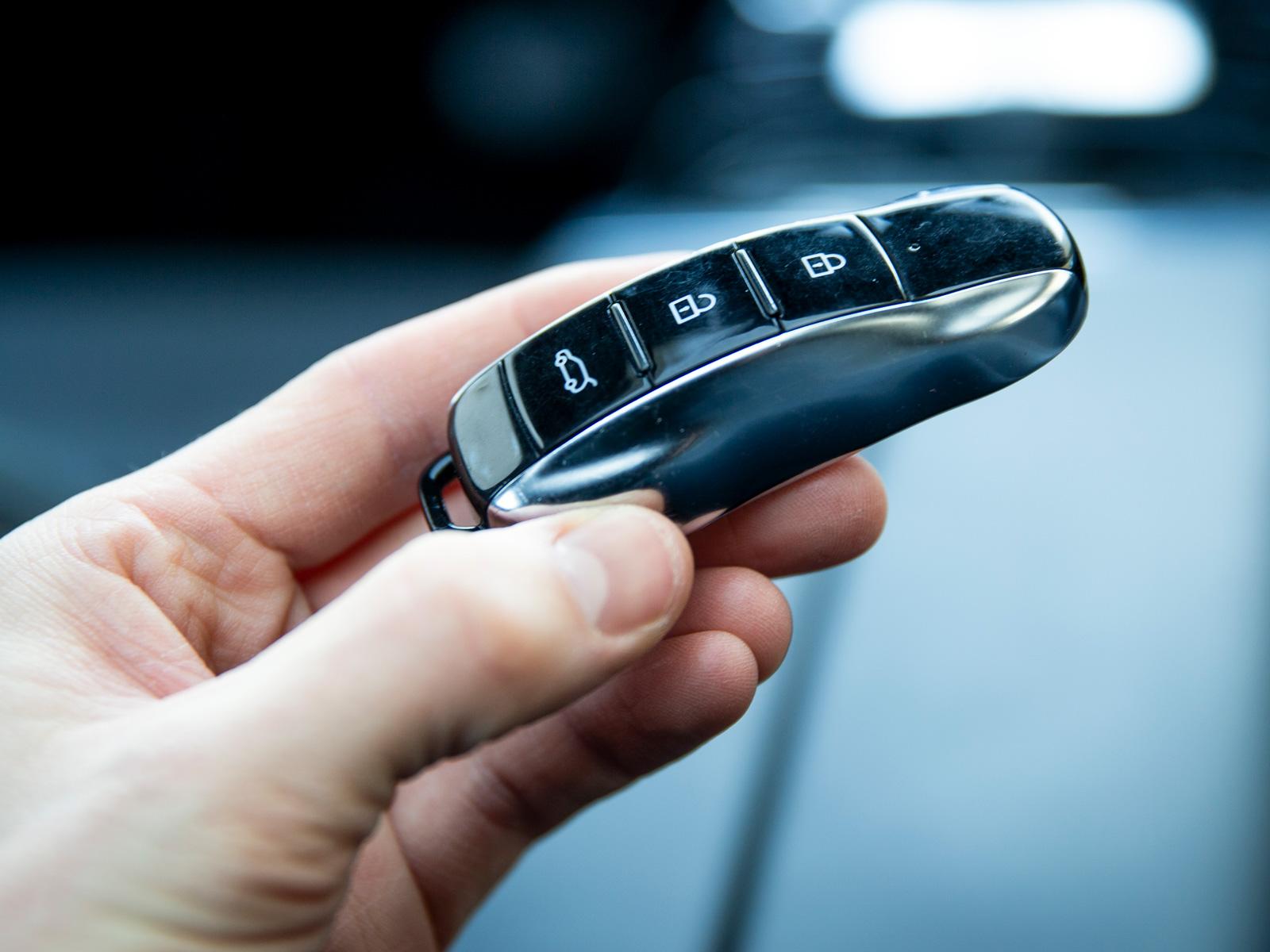 Kanske inte riktigt bilens silhuett men absolut en läcker nyckel!