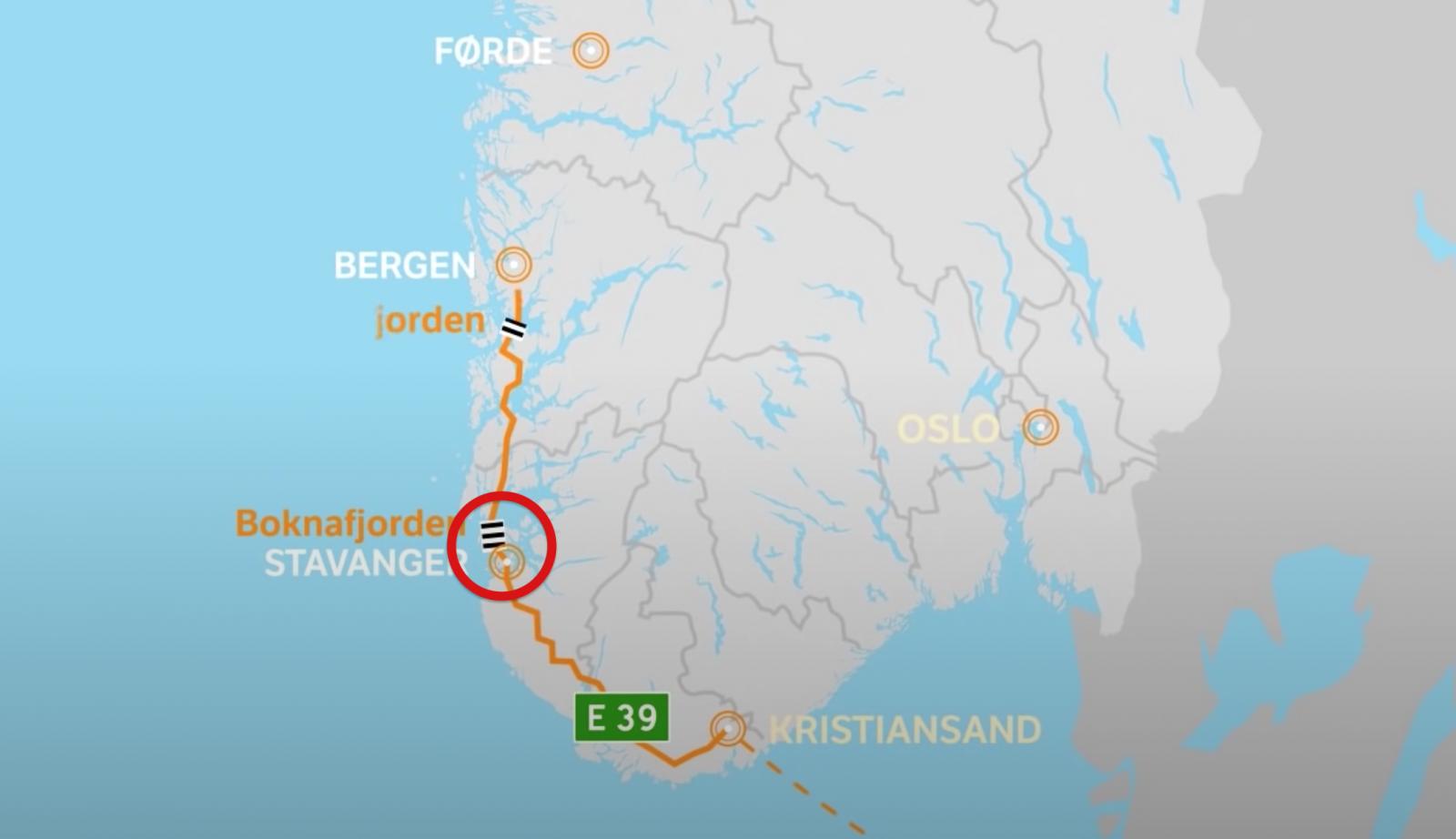 Här i sydvästra Norge hamnar den nya tunneln.