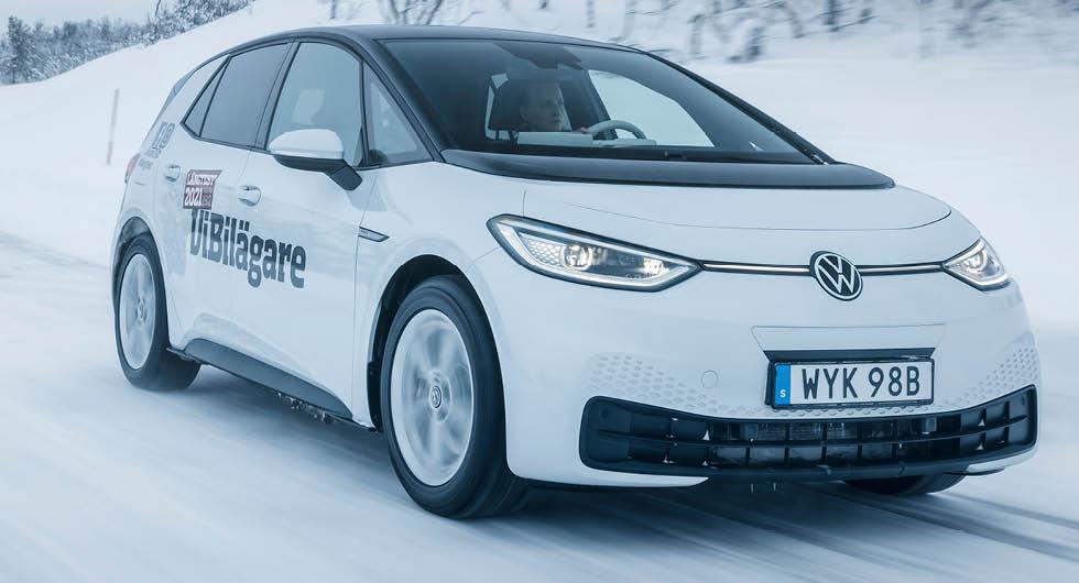 Vintertest: Honda Jazz, Mercedes GLB, Seat Leon, Toyota Yaris och Volkswagen ID 3 (2021)