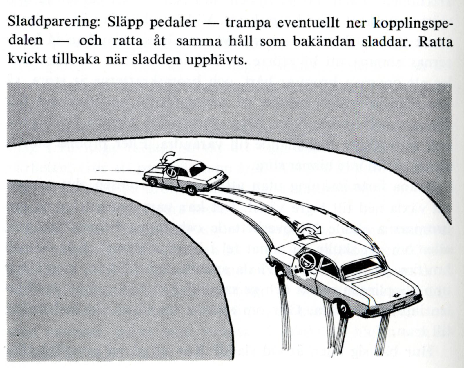 Så här kunde det se ut i Opels instruktionsböcker förr i tiden, när bilarna var bakhjulsdrivna.