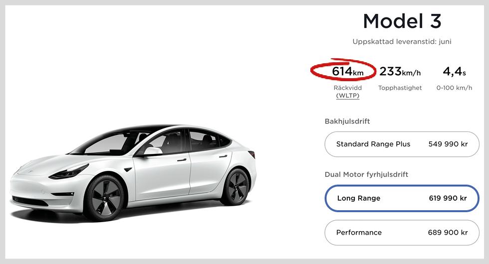 Så här ser det ut i Teslas konfigurator.