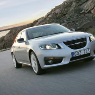 Provkörning av nya Saab 9-5