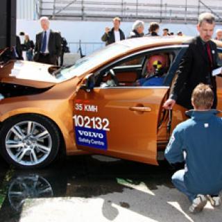 Volvo: Bilen var skadad