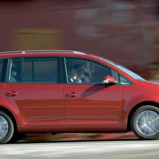 Volkswagen Touran exploderade