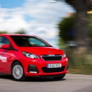 Peugeot 108 får bottenbetyg när rostskyddet granskats.