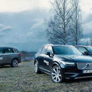 Vi har testat BMW X5, Mercedes-Benz ML och Volvo XC90.