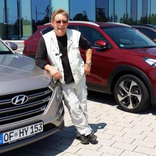 Mikael Schultz kör nya Hyundai Tucson.