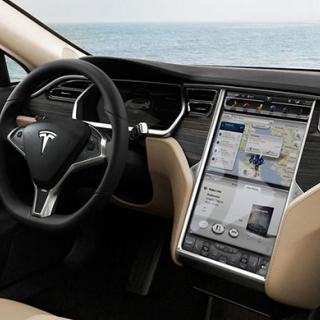 Interiör i en Tesla Model S.