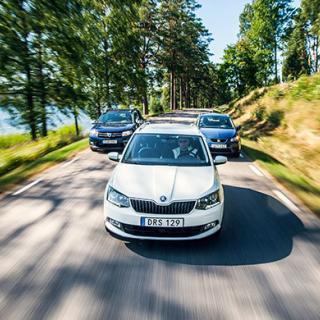 Vem vinner budgetkampen – Dacia, Seat eller Skoda?
