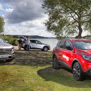 Vi Bilägare har testat kompakta suvarna Renault Kadjar, Hyundai Tucson och Mazda CX-5.