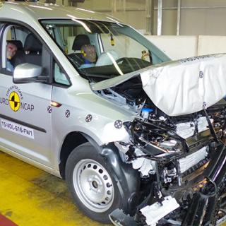 Volkswagen Caddy fick fyra stjärnor i Euro NCAP:s krocktest.