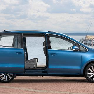 Begtest: Ford Galaxy, Volkswagen Sharan, Seat Alhambra