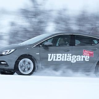 Opel Astra hamnade på andra plats i 2016 års vinterbilstest av långteststallet.
