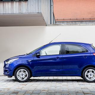 Ford Ka+ är en femdörrars halvkombi.