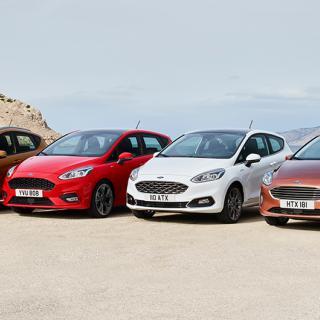 Nya Ford Fiesta finns i utförandena Active, ST-Line, Vignale och Titanium.