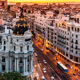 Madrid är en av de fyra städer som valt att införa förbud mot dieselbilar 2025.