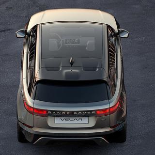 Range Rover Velar, sedd uppifrån.