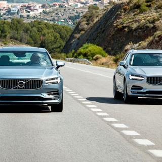 Volvo V90 och S90 blev vanligast i nyregistreringsstatistiken i februari 2017.