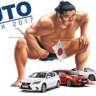 Trippel i japaner i toppen när bilägarna fått tycka till om sina bilar. Lexus, Subaru och Honda väger tyngst. Illustration: Simon Hamelius.