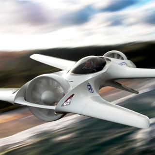 DeLoreans flygfarkost heter DR-7 VTOL.