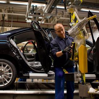 I Volvos amerikanska fabrik som ska stå färdig 2018 är det tänkt att nya S60 ska produceras. Här syns gamla S60 på produktionslinan i belgiska Gent.