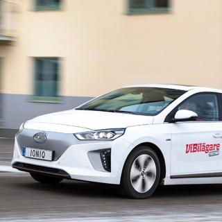 Hyundai Ioniq är en av bilarna som rekommenderas av försäkringsbolaget Folksam, utifrån bränslekostnad och säkerhet.