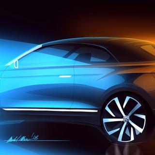 Volkswagen T-Roc med fällbart tak.