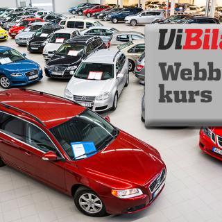 Försäljning av begagnade bilar backar