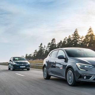 Ljustest: Renault Mégane, Opel Astra och Peugeot 308 (2016)