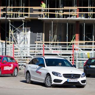 Test:  A4 Avant, C-klass Kombi & V60 (2016)