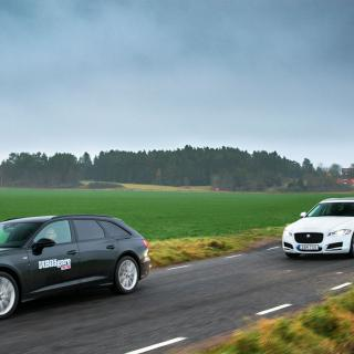 Ljustest: A6 Avant, XF Sportbrake & E-klass kombi (2018)