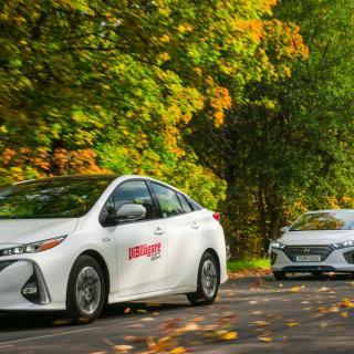 Ljustest: Hyundai Ioniq, Toyota Prius Volkswagen Golf GTE (2017)