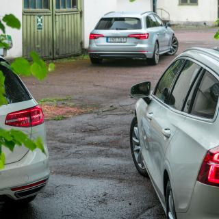 Test: Volvo V60, Audi A4 Avant och Volkswagen Passat Sportscombi (2018)