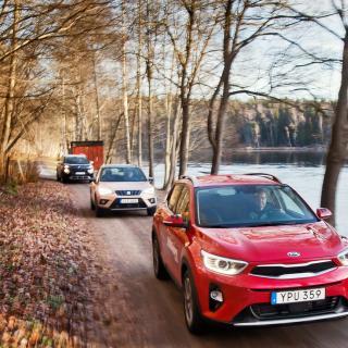 Ljustest: Citroën C3 Aircross, Kia Stonic och Seat Arona (2017)