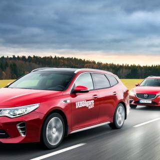 Ljustest: Mazda 6 Wagon, Kia Optima SW och Skoda Superb Combi (2016)