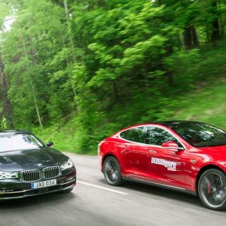 Test: BMW 7-serie, Mercedes S-klass, Tesla Model S (2016)