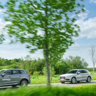 Ljustest: Volvo XC60, Audi Q5 och Mercedes GLC (2017)
