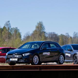 Test: Mercedes A-klass, BMW 1-serie och Honda Civic (2018)