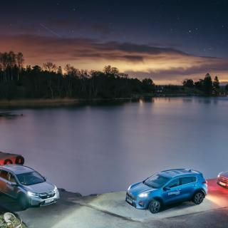 Ljustest: Honda CR-V, Kia Sportage & Ford Kuga (2019)