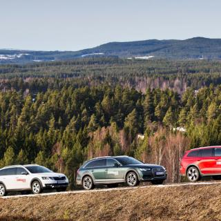 Skoda Octavia, Audi A4 Allroad & Volvo V60 Cross Country.